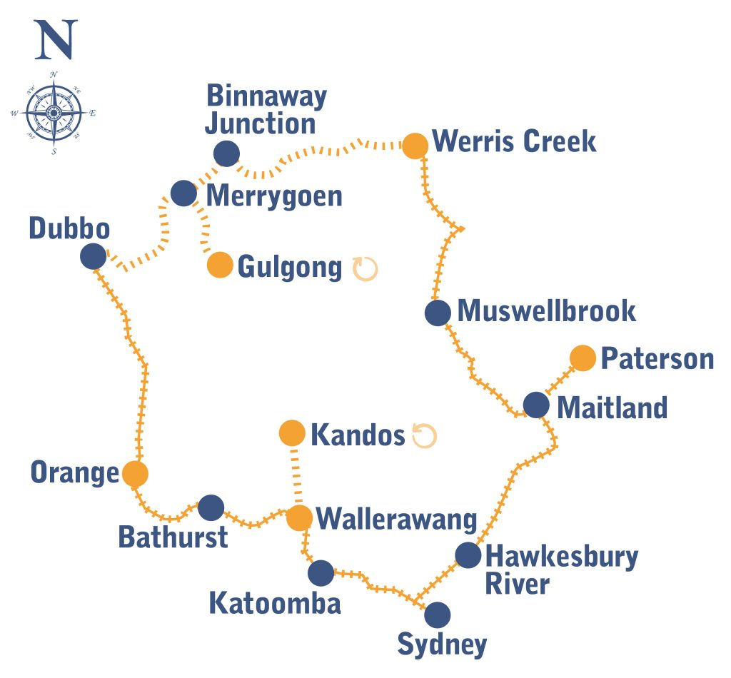 Golden West Map
