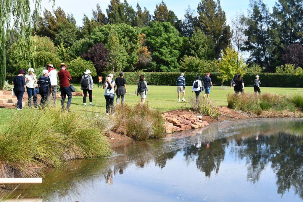 Guests At Emeri De Bortoli's Garden In Griffith
