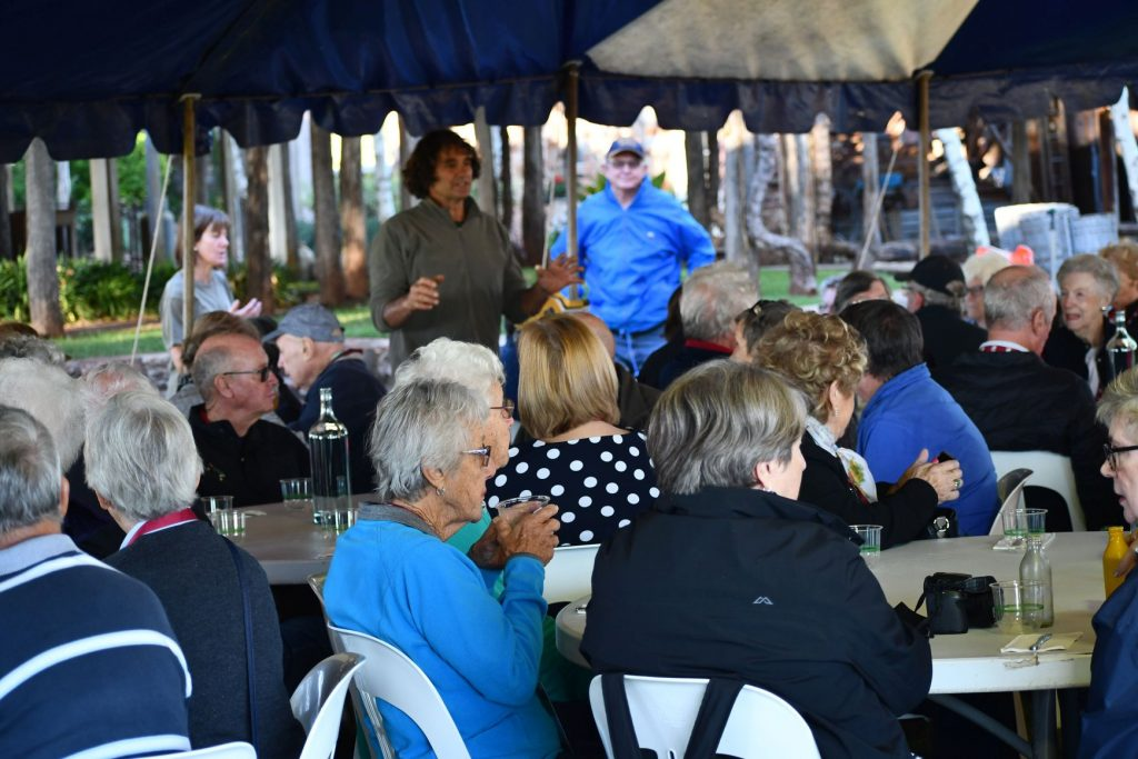 Guests Enjoying Breakfast At Piccolo Farm In Griffith